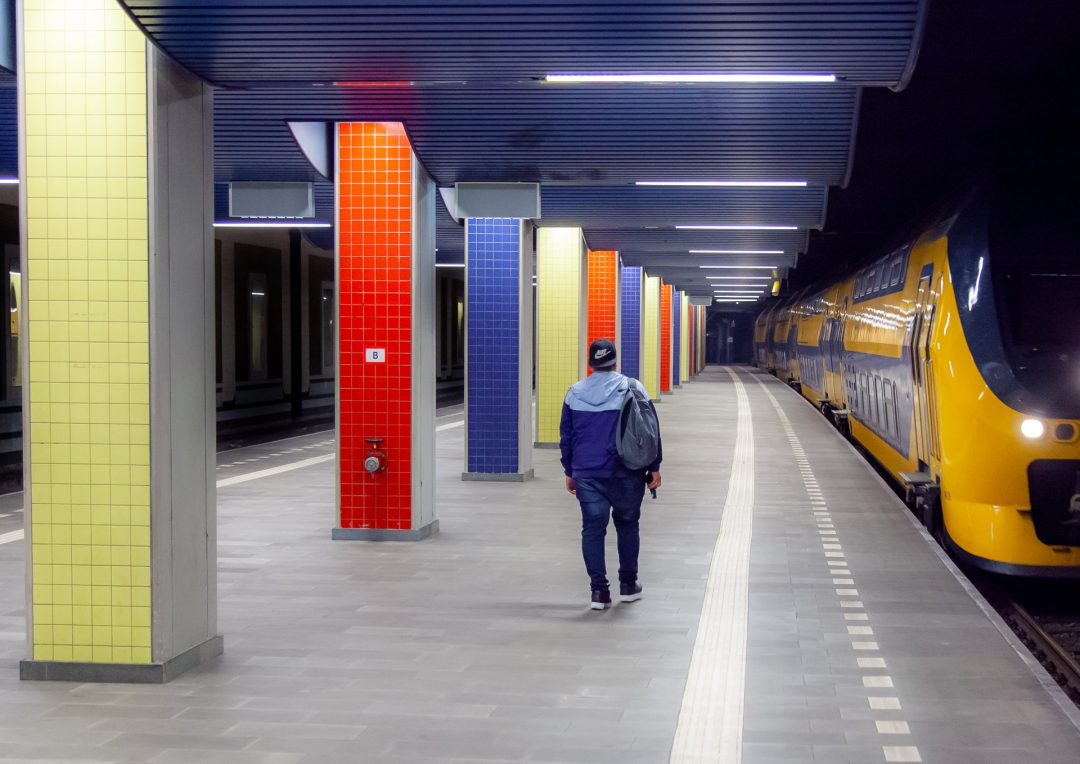 station Blaak, NS, trein, ProRail, architectuur, bedrijfsreportage, fotografie, perron