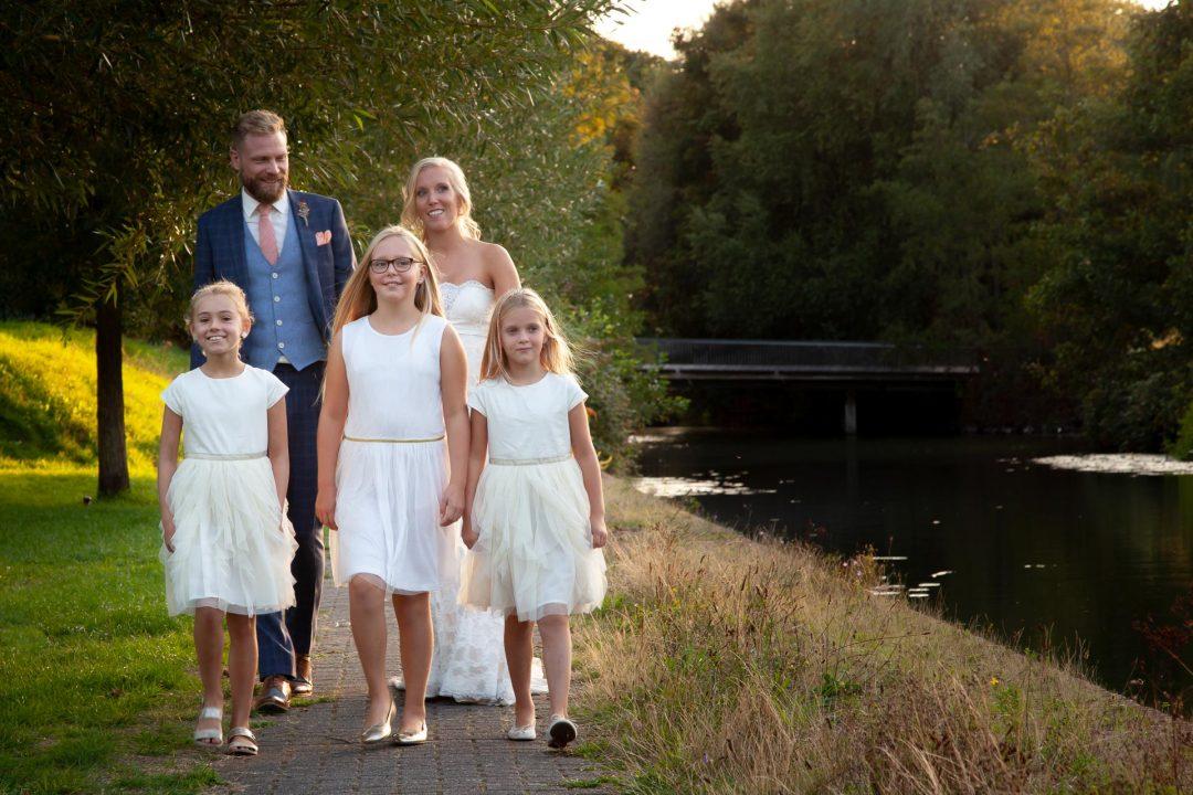trouwreportage, trouwfotografie, Griftpark, bruidsmeisjes, Utrecht, huwelijksreportage
